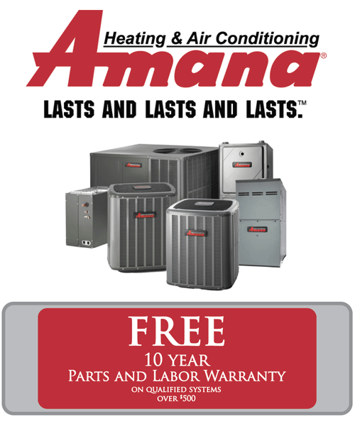 Amana ten year warranty