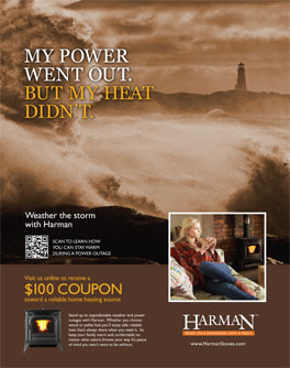 $100 Harman Stoves exclusive web only coupon offer