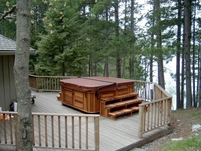 lake deck hot tub
